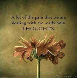 Pain in thoughts